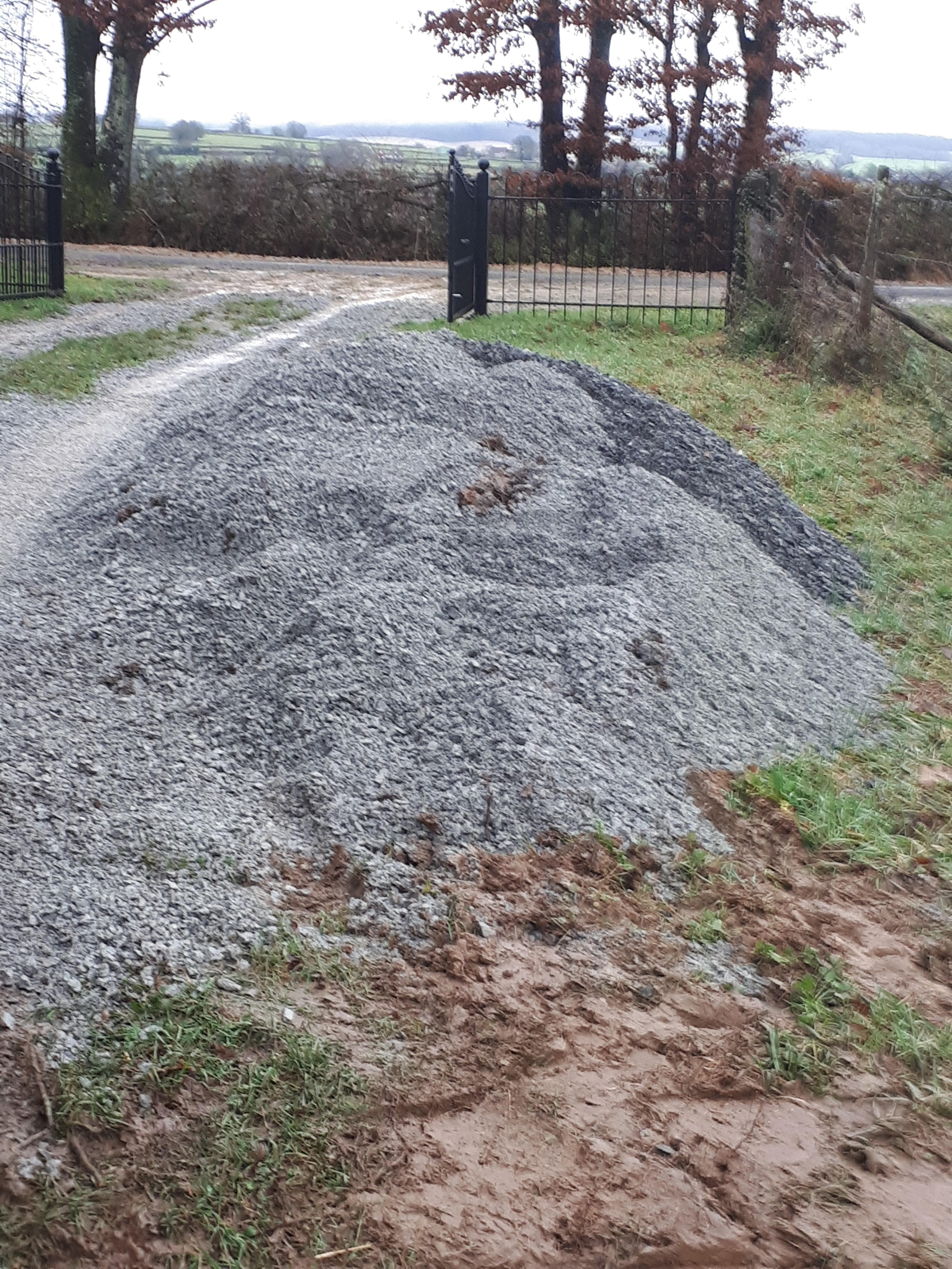 we hebben wat gravel laten komen
