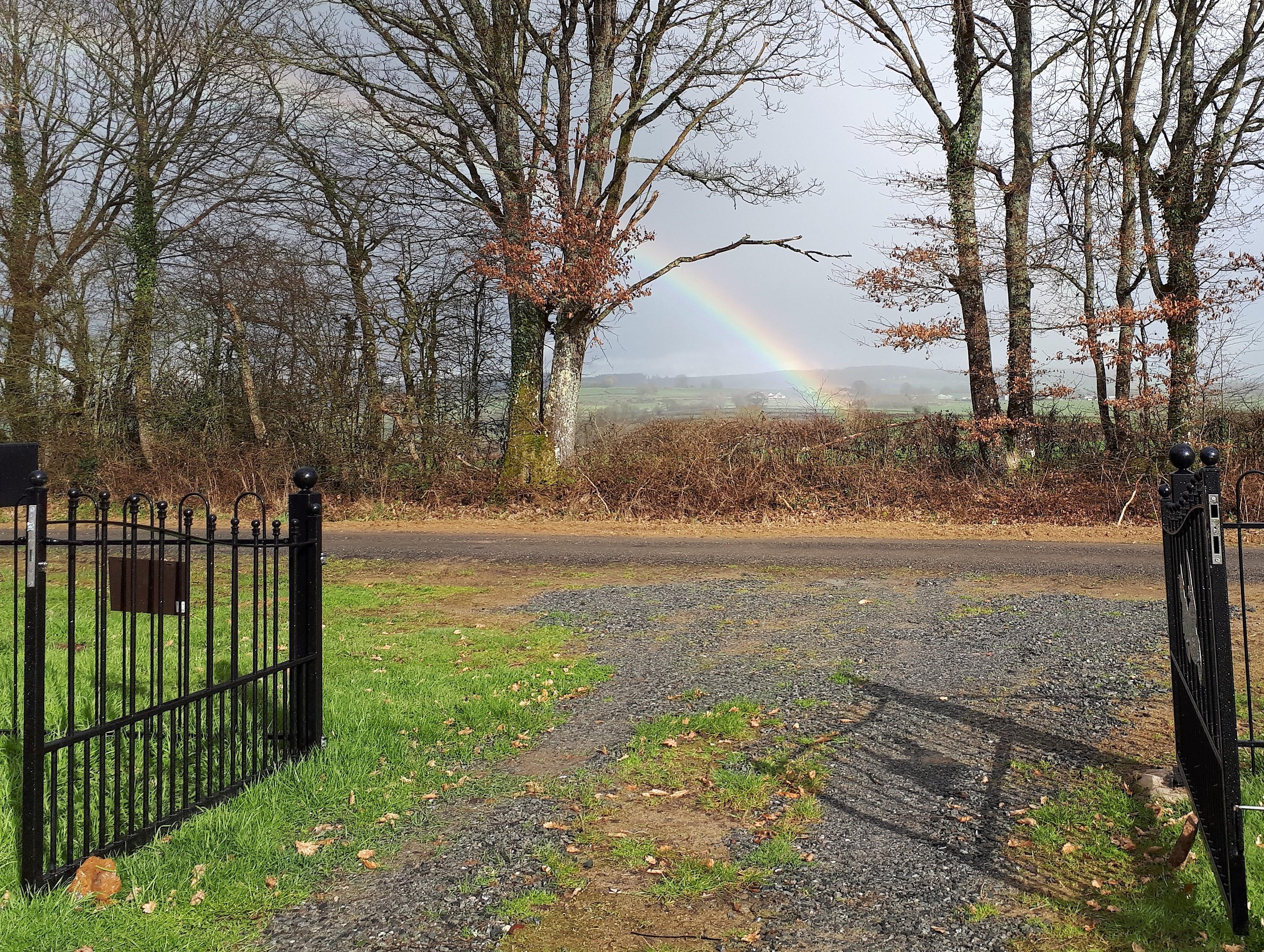 De regenboog aan de poort